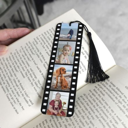 Personalised Aluminium Metal Film Strip Book Mark